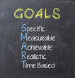 canvas print picture - Smart goals on blackboard