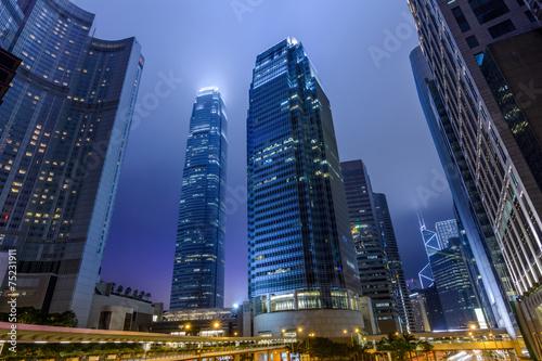Fototapeta Hong Kong skyscrapers obraz na płótnie