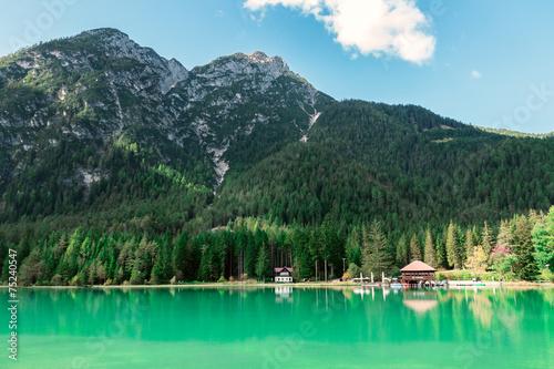 Photo Stands Landscapes Wonderful Dobbiaco lake