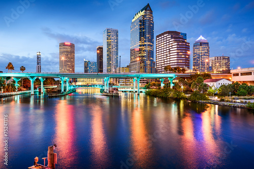 Photo Stands United States Tampa, Florida Skyline
