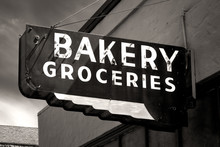 Black And White Worn Bakery An...