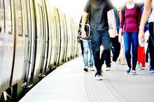 Passengers And Commuter Train