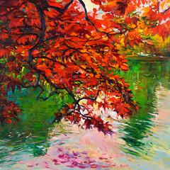 Obraz na Plexi Drzewa Autumn landscape