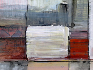 Fototapeta Industrialny a detail from an abstract painting