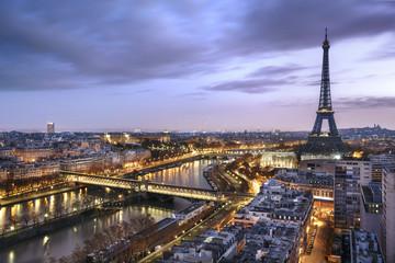 Panel SzklanyPanorama de la ville de Paris avec la Tour Eiffel