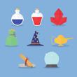 Set of magic icons