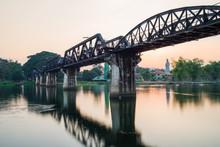 Long Exposure Photography At River Kwai Bridge In Kanchanaburi ,