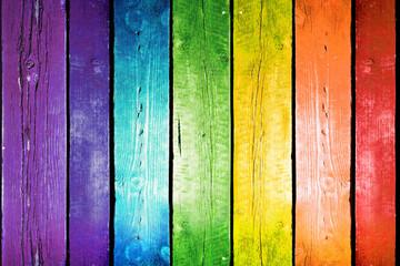 Background Rainbow wood.