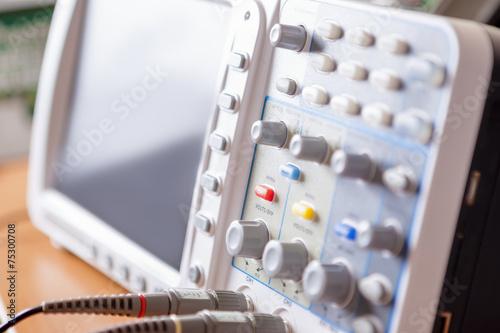 Fotografie, Obraz  Closeup of Professional Laboratory Oscillograph