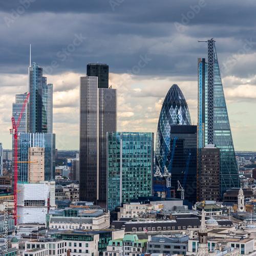 Fototapeta The City of London in the afternoon obraz na płótnie