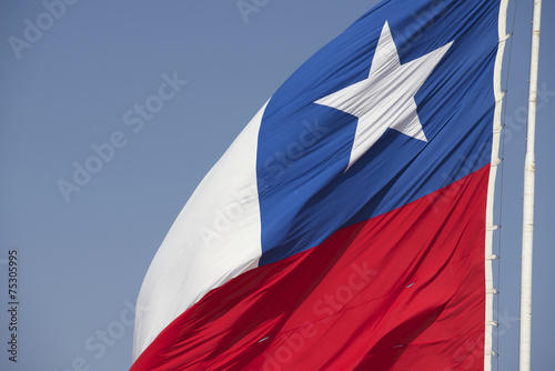 Photo sur Aluminium Amérique du Sud National flag of Chile at Morro de Arica hill, Arica, Chile