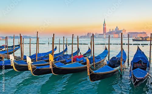 Foto auf Acrylglas Bestsellers gondolas in Venice