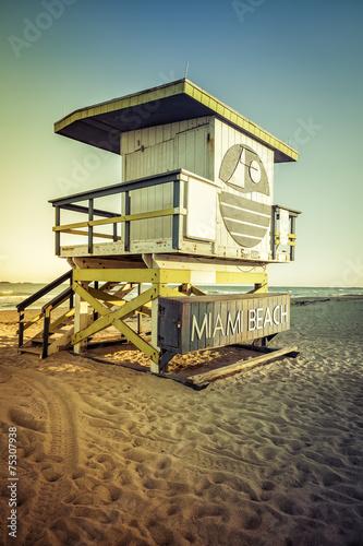 Keuken foto achterwand Verenigde Staten Lifeguard Tower in South Beach, Miami Beach