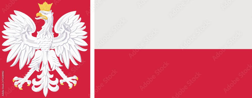 Fototapeta flaga i godło Polski