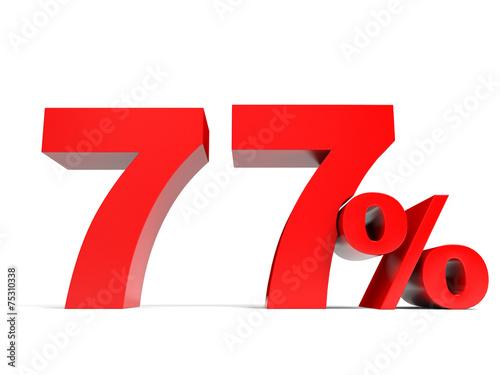 Fotografie, Obraz  Red seventy seven percent off. Discount 77%.