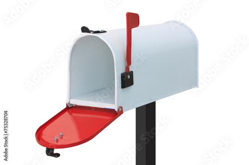 Fotografie, Obraz  Bílá poštovní schránka
