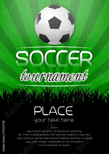 Photo  Soccer tournament background with ball