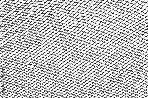 Fotografija Black fishing net silhouette isolated on white