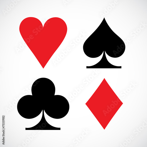 Playing Cards Symbols Vector Illustration Buy This Stock Vector