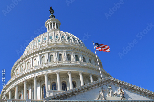 Canvas Prints Historic monument Capitol Building in Washington DC USA