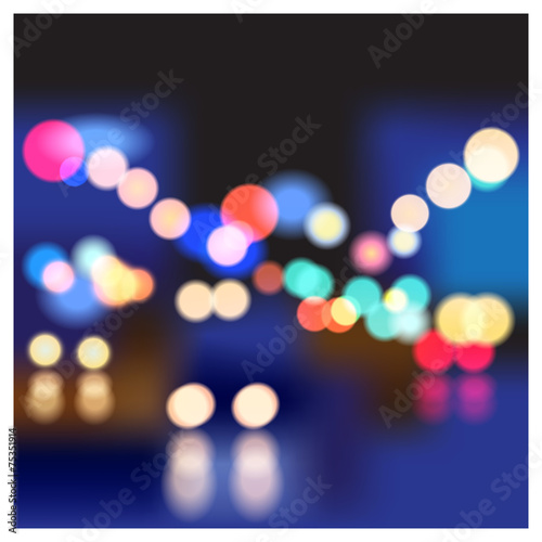 Fototapeta night street obraz na płótnie