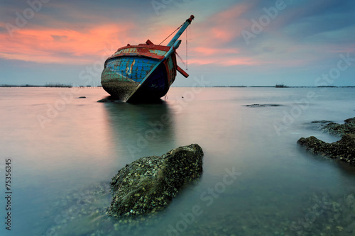 Photo sur Aluminium Naufrage The wrecked ship, Thailand