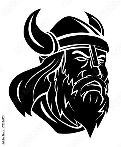 Photo  Viking Head Vector Illustration