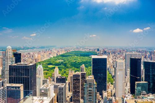 Fotografie, Obraz  Aerial Central park view