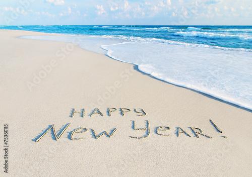 Happy New Year caption at b...