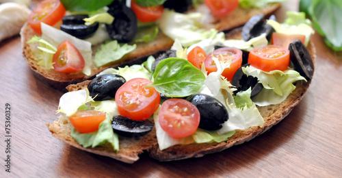 In de dag Buffet, Bar Salat Oliven