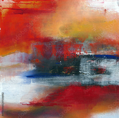 abstract original painting on canvas, main color red, for backgr