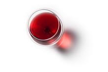 Calice Di Vino Rosso Con Ombra...