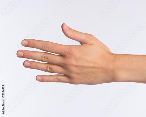 frau mit der hand befriedigen