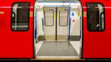 Fototapeta Londyn - Inside view of London Underground, Tube Station