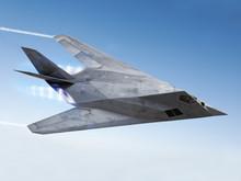 Stealth Aircraft Streaking Thr...
