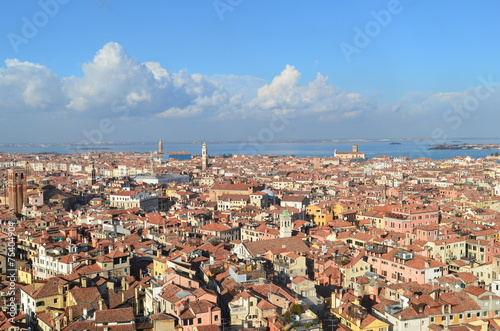 Spoed Foto op Canvas Palermo venedig luftaufnahme
