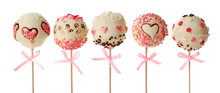 Tasty Cake Pops, Isolated On W...