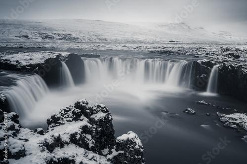 Photo sur Toile Gris traffic Godafoss, Islande