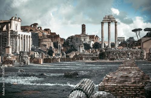 Poster Ruine roman forum