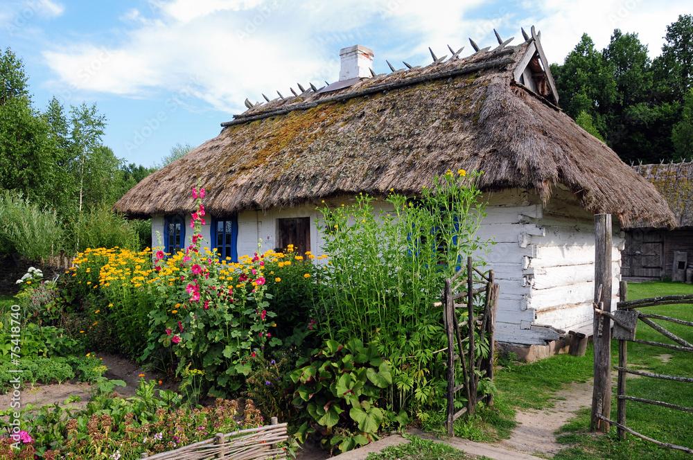 Obraz Tradycyjna osada wiejska na podlasiu fototapeta, plakat