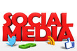 Leinwandbild Motiv Social Media