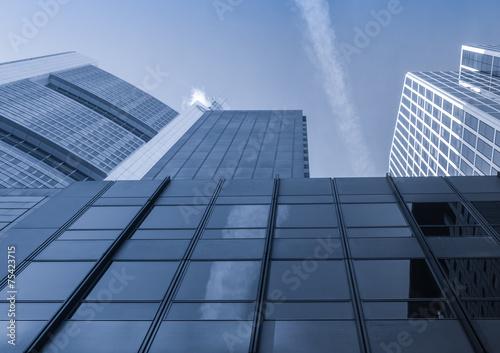 Fototapeta Skyline in the financial district of Frankfurt, Germany obraz na płótnie