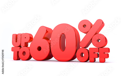 Fotografia  Up to 60% Off 3D Render Red Word Isolated in White Background5