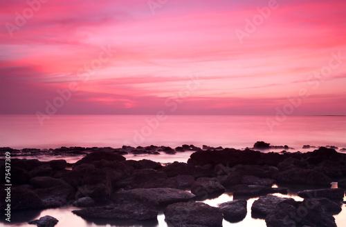 Foto op Canvas Candy roze Rocky Saint Martins Island of Bangladesh