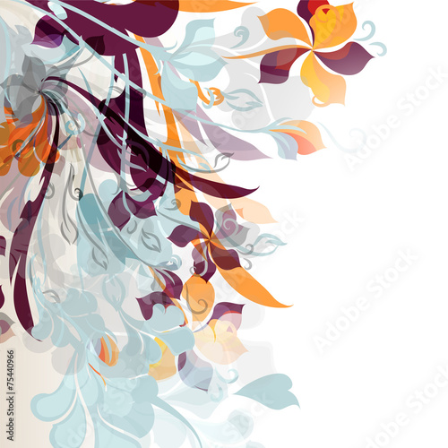 Fototapety, obrazy: Abstract floral background
