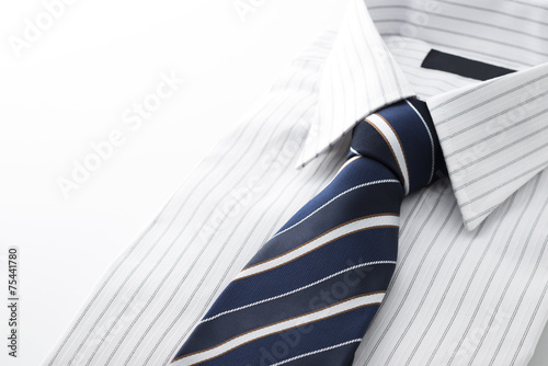 ワイシャツとネクタイのクローズアップ Fototapet