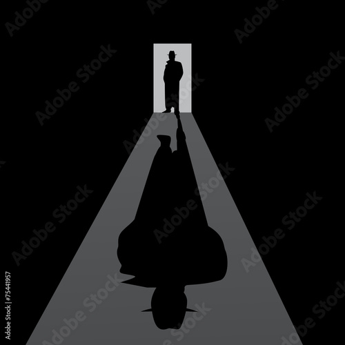Fotografia  Detective. Creative, retro, vector illustration.