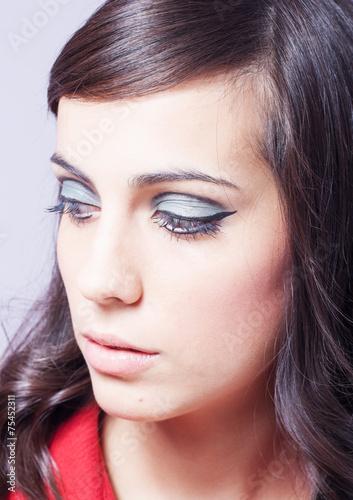 Fotografie, Obraz  chica maquillada