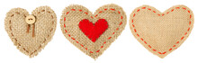 Heart Shape Sackcloth Patch, Valentine Day Stitches Seam