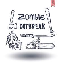 Zombie Icon, Vector Illustration.